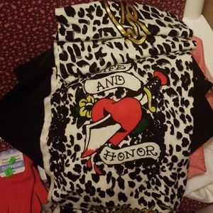 Ed Hardy leopard scarf